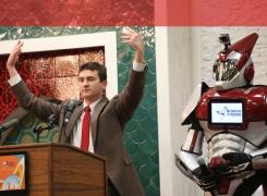 The first keynote speaker robot in Chicago